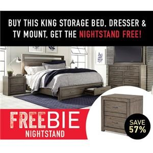 Moreno King Bedroom Group with Freebie!