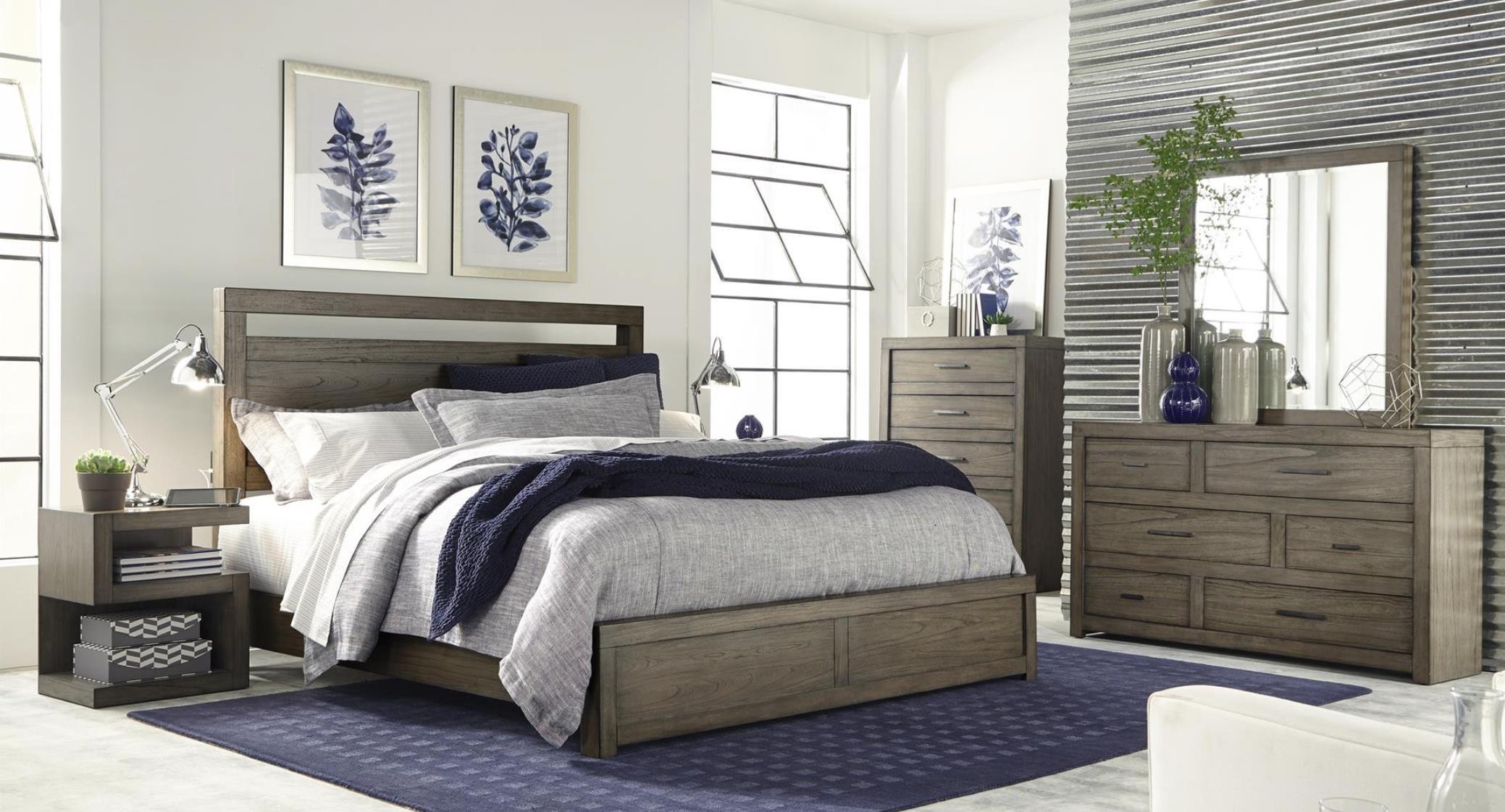Hills of Aspen Modern Loft 4-Piece King Bedroom Set - Item Number: B17ML4-K4PC