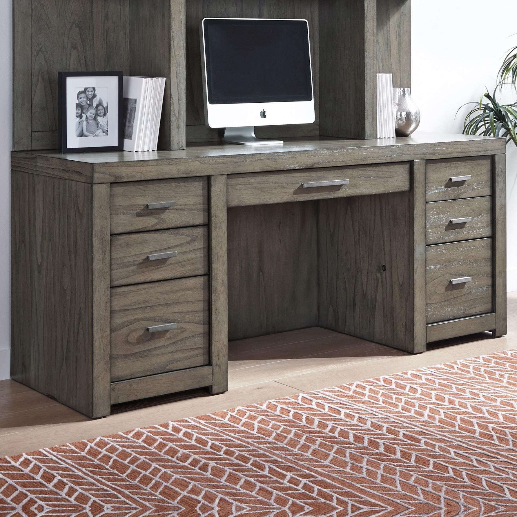 "Aspen Modern Loft Contemporary 72"" Credenza Desk With"