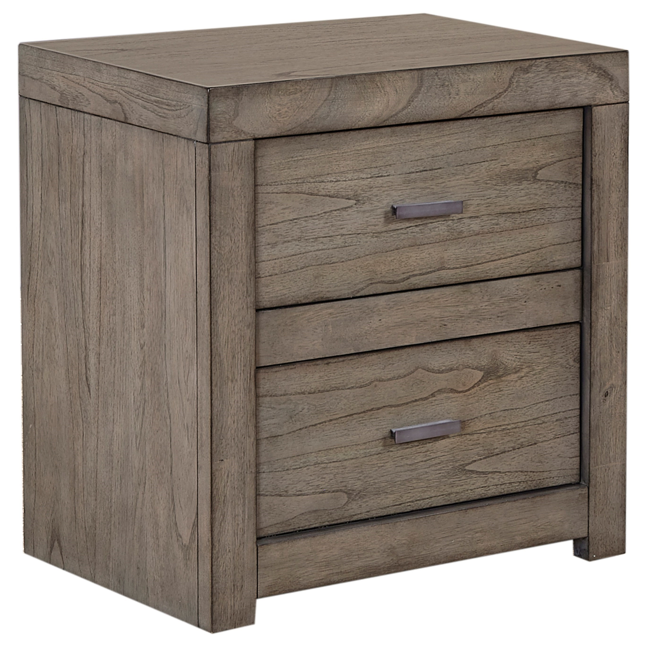 2 Drawer Nightstand with Power