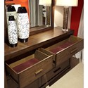 Aspenhome Modern Loft 6 Drawer Dresser with Felt-Lined Top Drawers