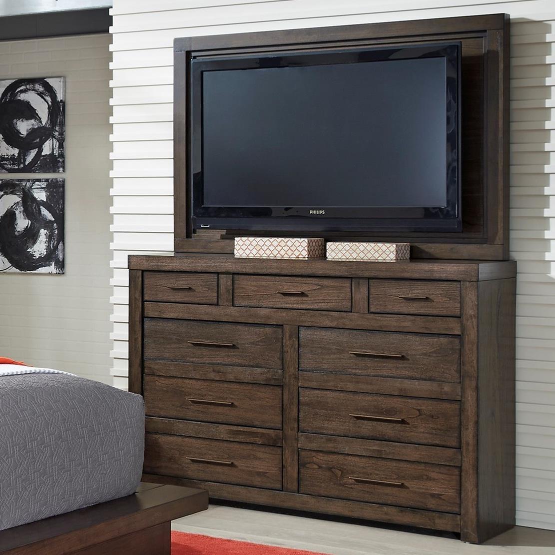 Modern Loft Media Chest With Tv Mount