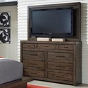 Aspenhome Modern Loft Media Chest with TV Mount - Item Number: IML-455+487-BRN
