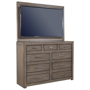 Aspenhome Modern Loft Media Chest with TV Mount