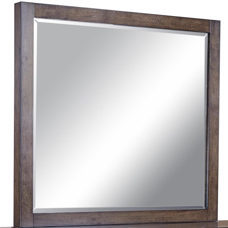 Aspenhome Modern Loft Mirror  - Item Number: IML-463-BRN