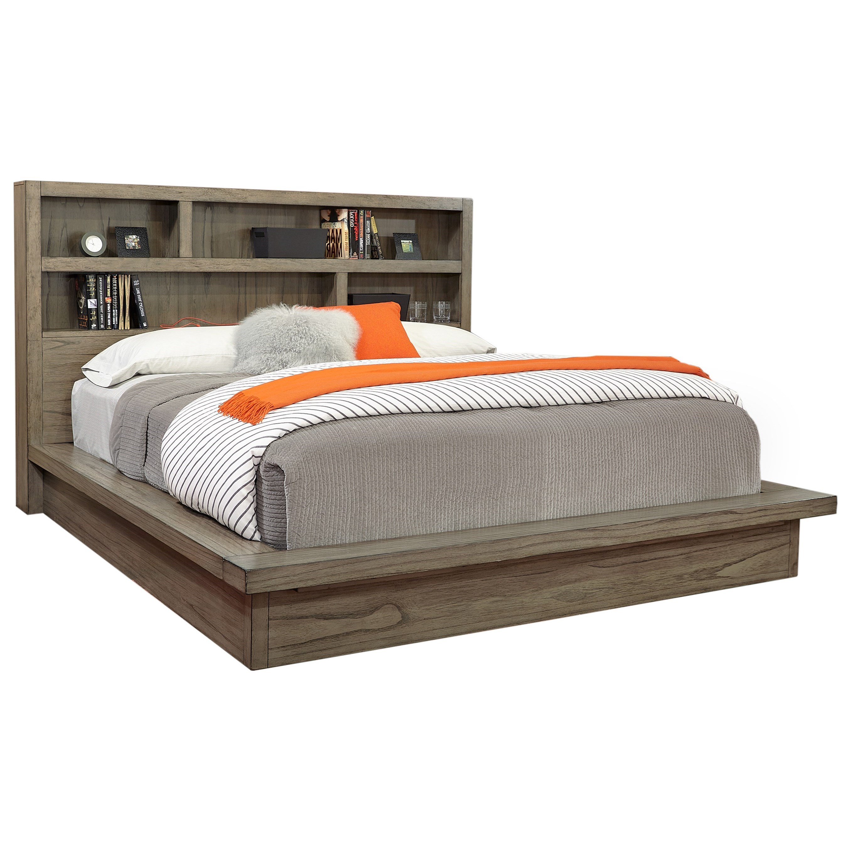 Modern Loft Queen Platform Bed by Aspenhome at Baer's Furniture