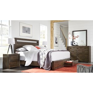 Aspenhome Modern Loft King Bedroom Group