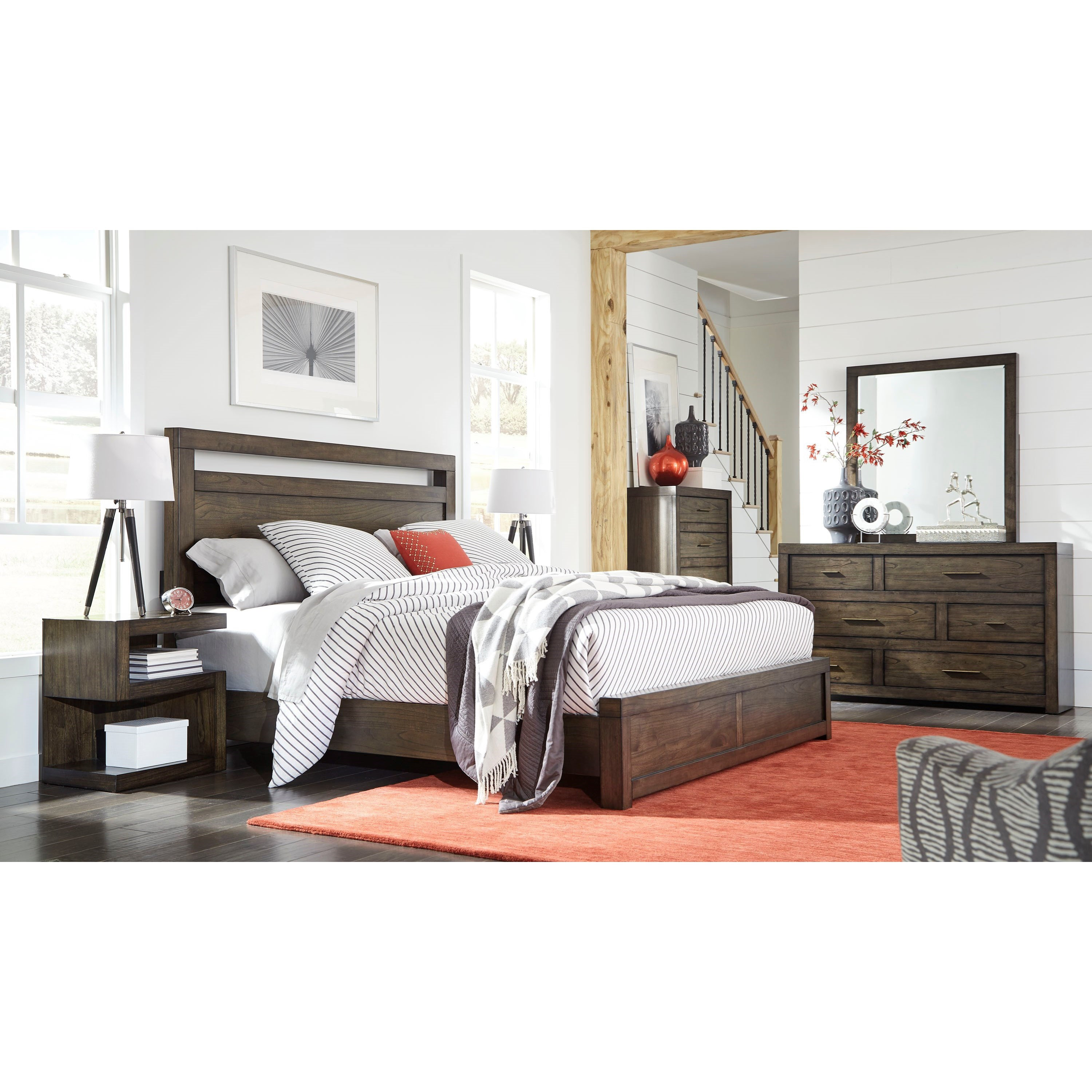 Aspenhome Modern Loft California King Bedroom Group - Item Number: IML-BRN CK Bedroom Group 2