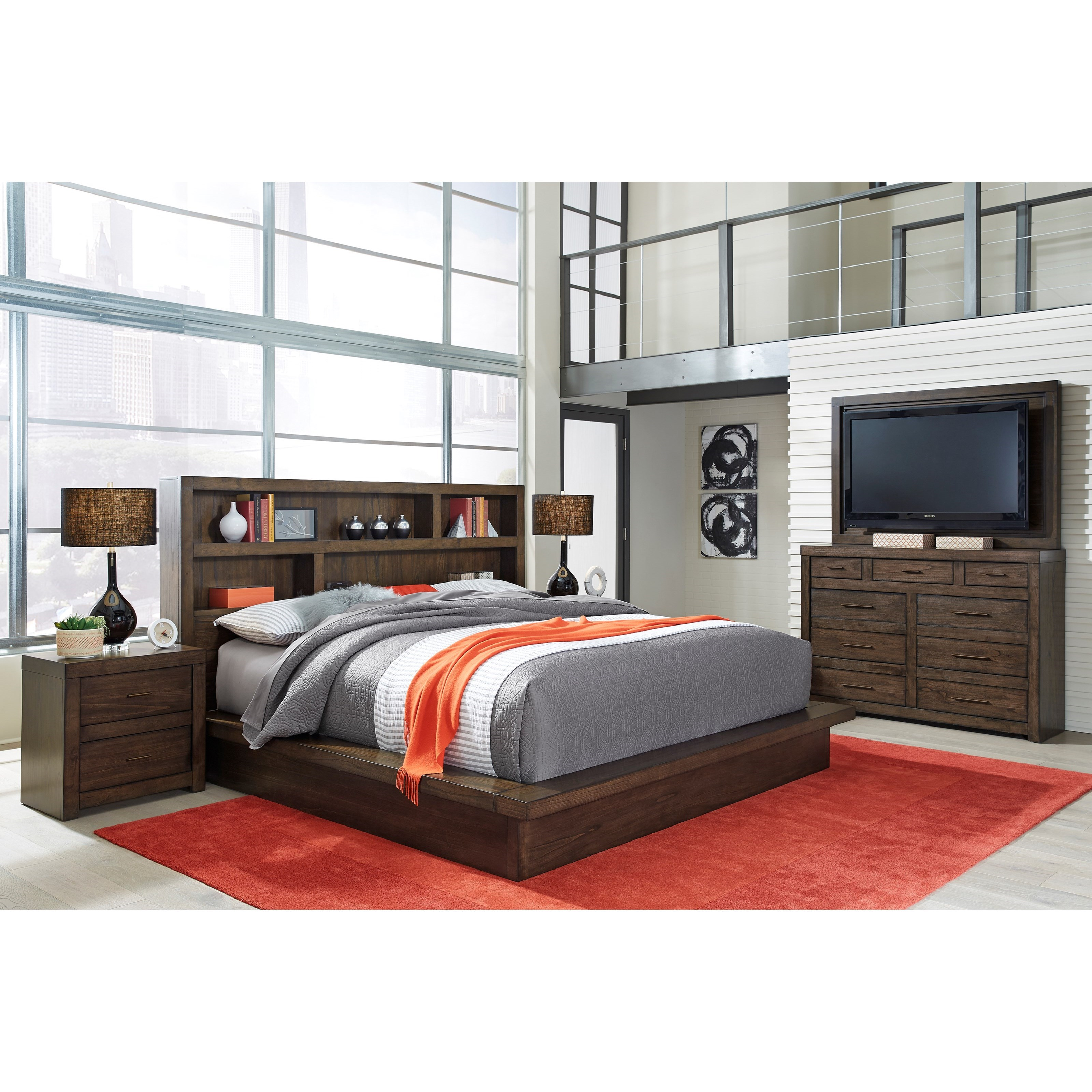Modern Loft Queen Bedroom Group by Aspenhome at Walker's Furniture