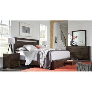 4PC Queen Storage Bedroom Set