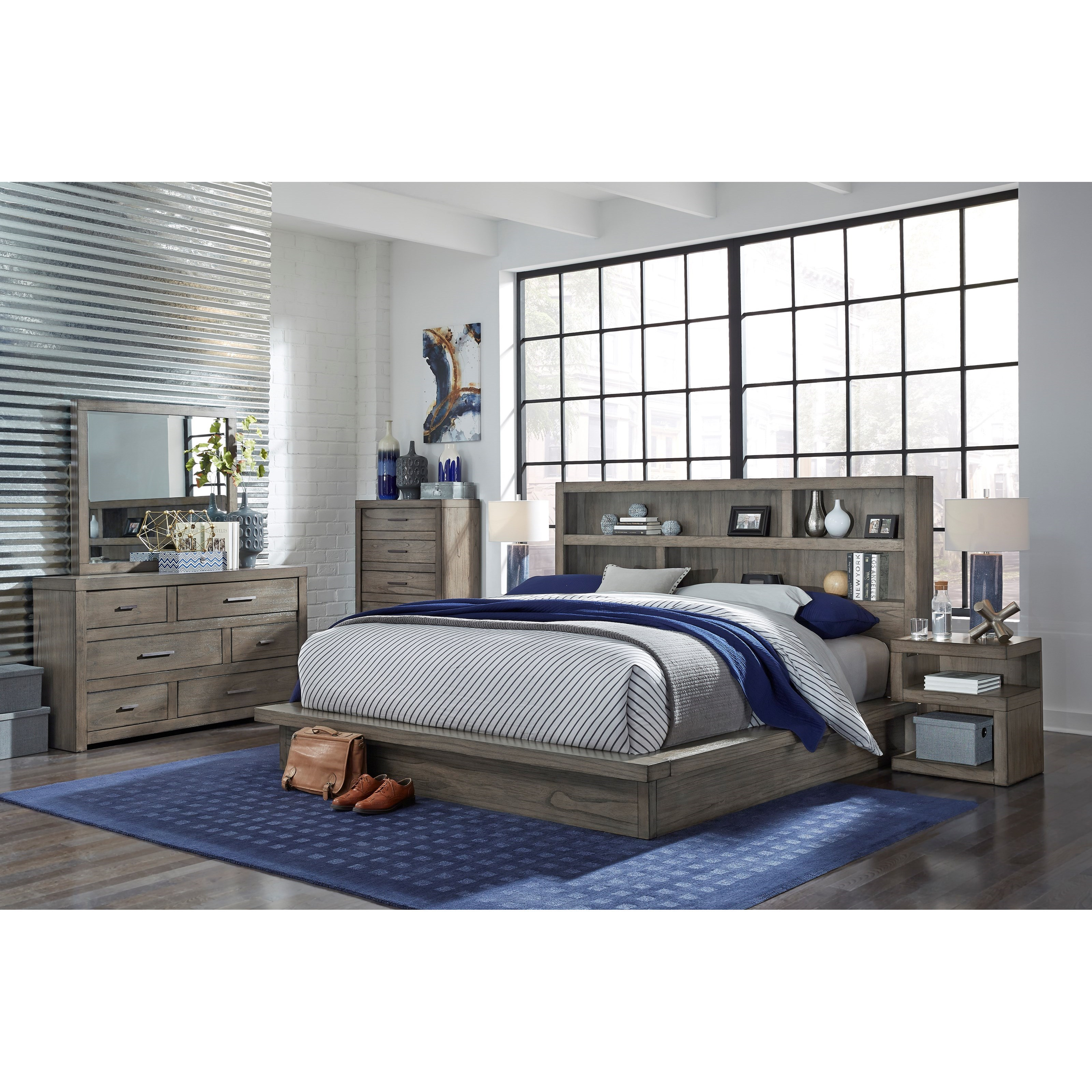 Aspenhome Modern Loft Iml Gry Ck Bedroom Group 4 California King Bedroom Group Dunk Bright Furniture Bedroom Groups