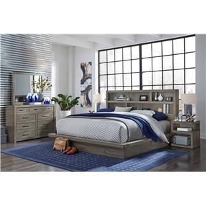4PC Queen Platform Bedroom Set