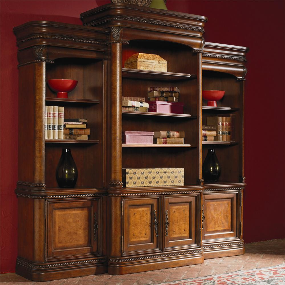 Aspenhome Napa Breakfront Bookcase Combination Wall Unit