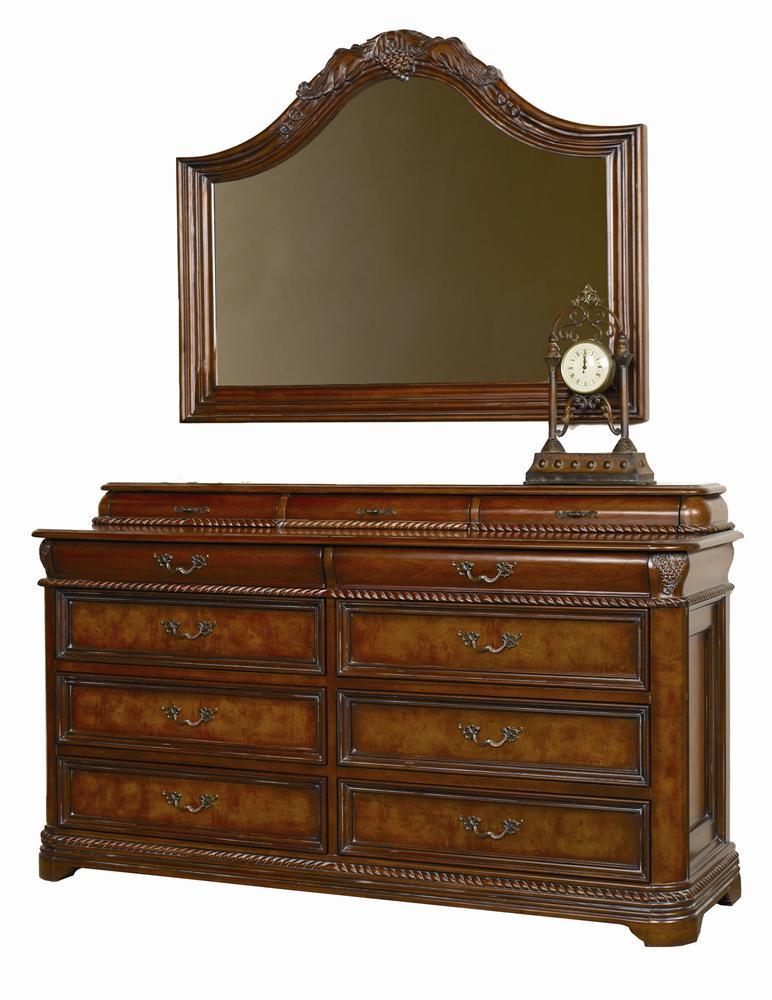 Aspenhome Napa  Master Dresser & Mirror Combo - Item Number: I74-454+454J+463
