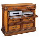 Aspenhome Napa  3 Drawer Entertainment Chest with Drop Front Component Storage and Rope Moulded Base and Top - I74-485