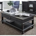 Aspenhome Oxford Cocktail Table with Casters - Item Number: 107-1900-BLK