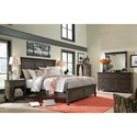 Aspenhome Oxford Transitional Queen Panel Bed with USB Ports - Bed Shown May Not Be Size Indicated