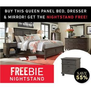 Queen Panel Bed Group with Freebie