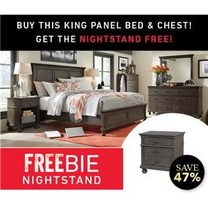 Oakford King Bed Set with Freebie