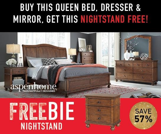 Oakford Oakford Queen Bedroom Package w/Freebie! by Aspenhome at Morris Home