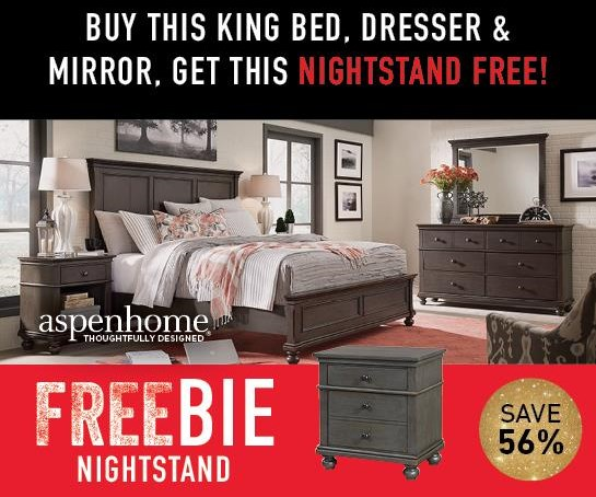 Oakford Oakford King Bedroom Group with FREEBIE! by Aspenhome at Morris Home