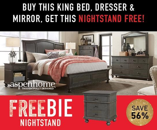 Oakford Oakford King Bedroom Package with FREEBIE! by Aspenhome at Morris Home