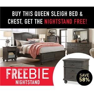 Oakford Queen Bed Set with Freebie