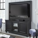 "Aspenhome Oxford 65"" TV Stand With Backer - Item Number: I07-264+264B-BLK"