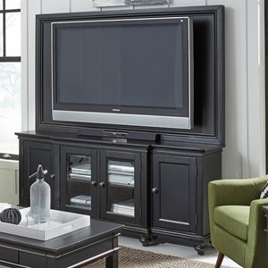 "Aspenhome Oxford 75"" Media Console and TV Backer"