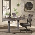"""Aspenhome Oxford 60"""" Adjustable Desk - Item Number: I07-301+360T-PEP"""
