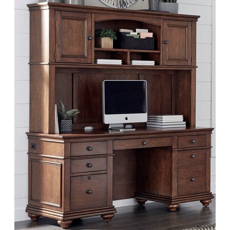 Oxford Credenza and Hutch by Aspenhome at Baer's Furniture