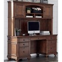 Aspenhome Oxford Credenza and Hutch - Item Number: I07-316+317-WBR