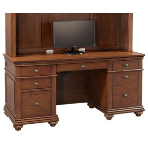 Credenza Desk with Locking File Drawer