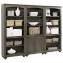 Aspenhome Oxford Bookcase Wall - Item Number: I07-332+2x333-PEP
