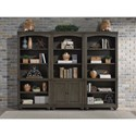 Aspenhome Oxford Bookcase Wall with Adjustable Shelves