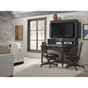 Aspenhome Oxford Desk and Hutch with File Drawer
