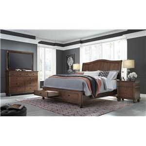 Aspenhome Oxford Four Piece Queen Bedroom