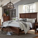 Aspenhome Oxford Queen Panel Bed - Item Number: I07-412+403+402-WBR