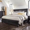 Aspenhome Oxford Queen Storage Bed - Item Number: I07-412+403D+402-BLK