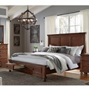 Aspenhome Oxford Queen Panel Storage Bed - Item Number: I07-412+403D+402-WBR
