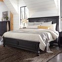 Aspenhome Oxford King Bed - Item Number: I07-415+407+406-BLK