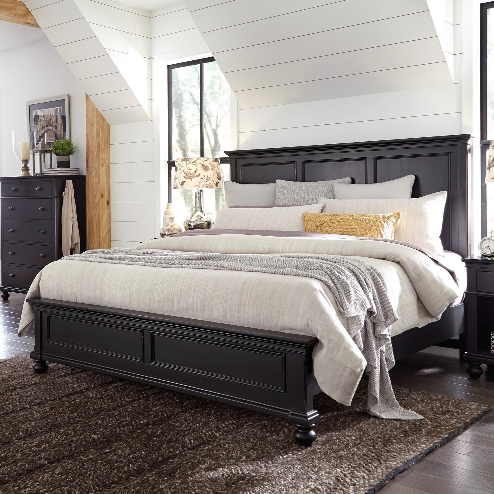 Aspenhome Oxford Cal King Bed - Item Number: I07-415+407+410-BLK