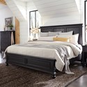 Aspenhome Oxford California King Panel Bed - Item Number: I07-415+407+410-BLK