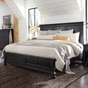 Aspenhome Oxford King Storage Bed - Item Number: I07-415+407D+406-BLK