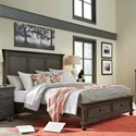 Hills of Aspen Oxford King Bed - Item Number: I07-415+407D+406-PEP