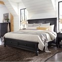 Aspenhome Oxford California King Panel Storage Bed - Item Number: I07-415+407D+410-BLK