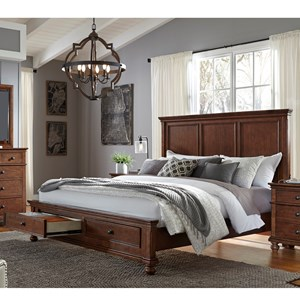 Aspenhome Oxford Cal King Storage Bed