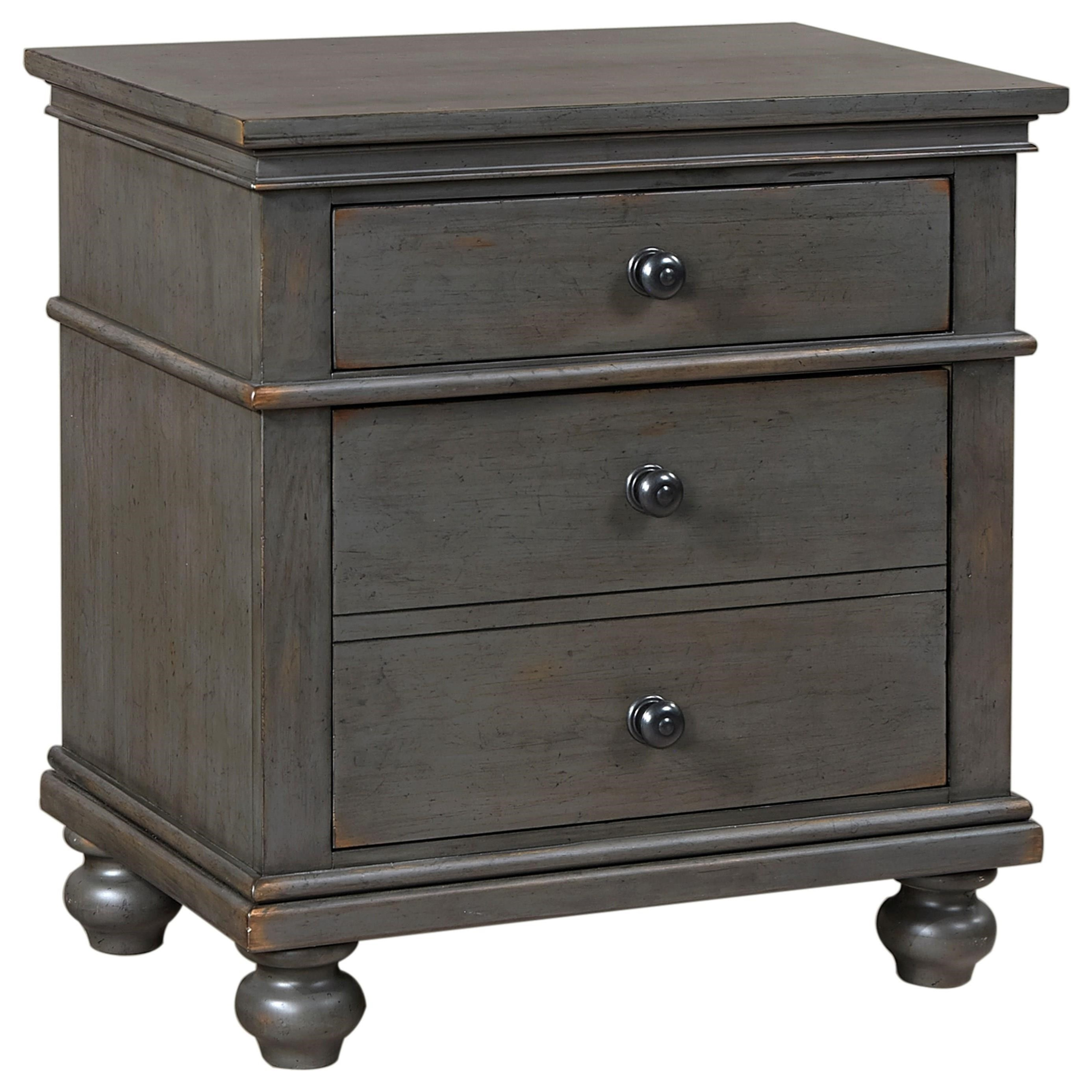 Aspenhome Oxford 2 Drawer Nightstand - Item Number: I07-450-PEP