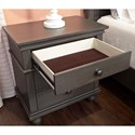 Aspenhome Oxford Transitional 2 Drawer Night Stand with AC Outlets