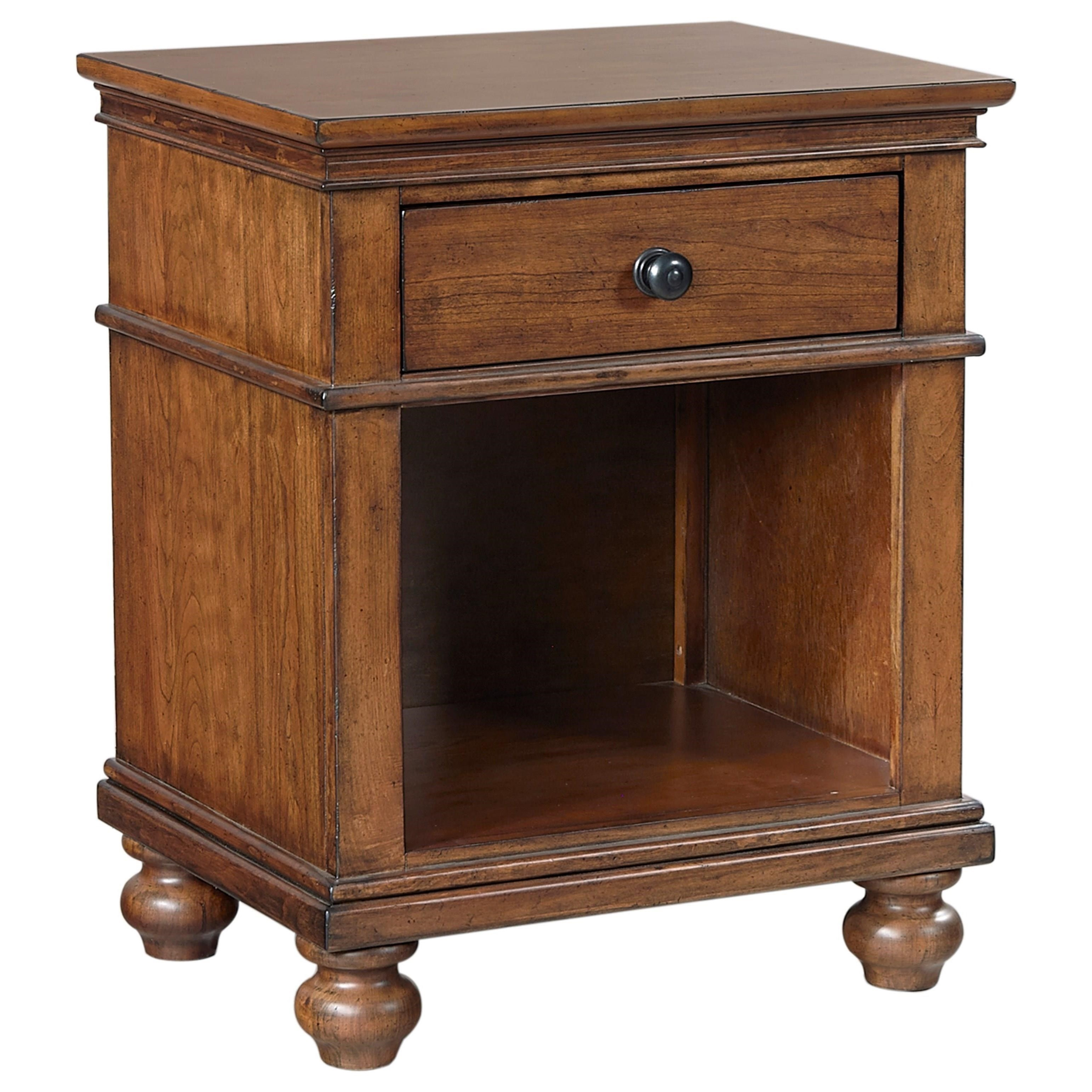 Aspenhome Oxford 1 Drawer Nightstand - Item Number: I07-451N-WBR